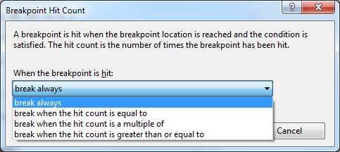 Breakpoint Hit Count